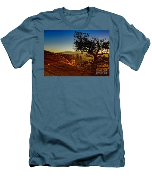 Men's T-Shirt (Slim Fit) featuring the photograph Sunrise Inspiration by Kristal Kraft