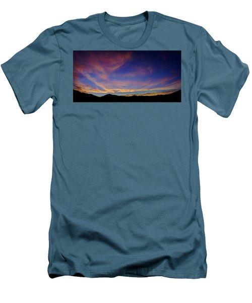 Sunrise Over Canyon Hills Men's T-Shirt (Athletic Fit)