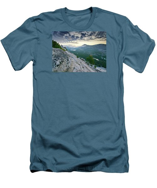 Sunrise Over Tenaya Lake - Yosemite National Park Men's T-Shirt (Slim Fit) by Brendan Reals