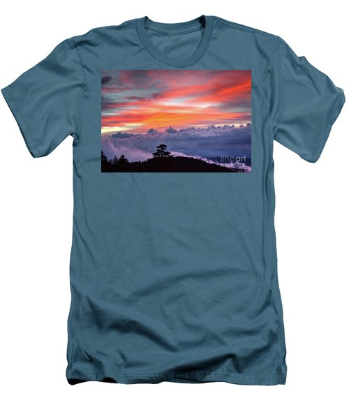 Men's T-Shirt (Slim Fit) featuring the photograph Sunrise Over The Smoky's II by Douglas Stucky