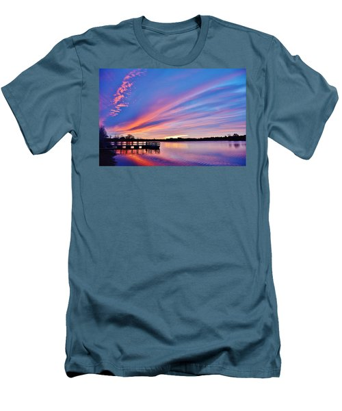 Sunrise Reflecting Men's T-Shirt (Slim Fit) by Diane Alexander