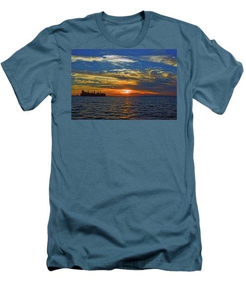 Sunrise Sail Men's T-Shirt (Athletic Fit)