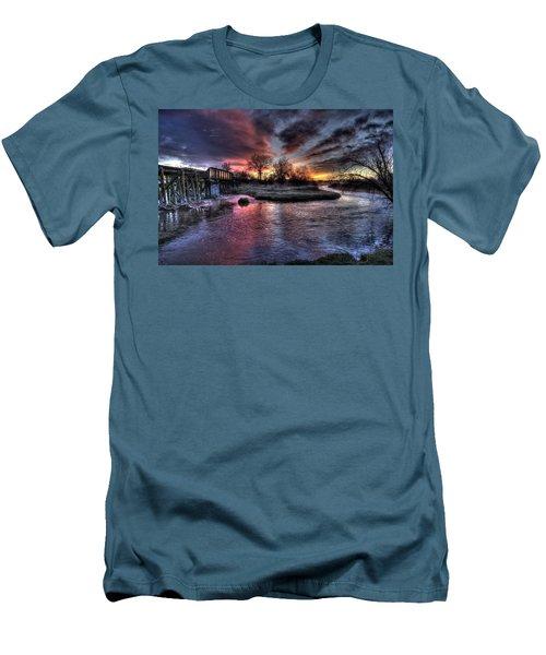 Sunrise Trestle #1 Men's T-Shirt (Slim Fit) by Fiskr Larsen