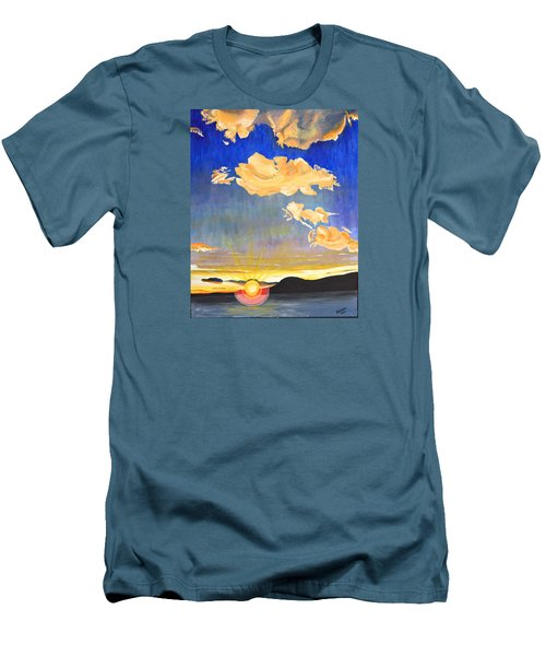 Sunset #6 Men's T-Shirt (Slim Fit) by Donna Blossom