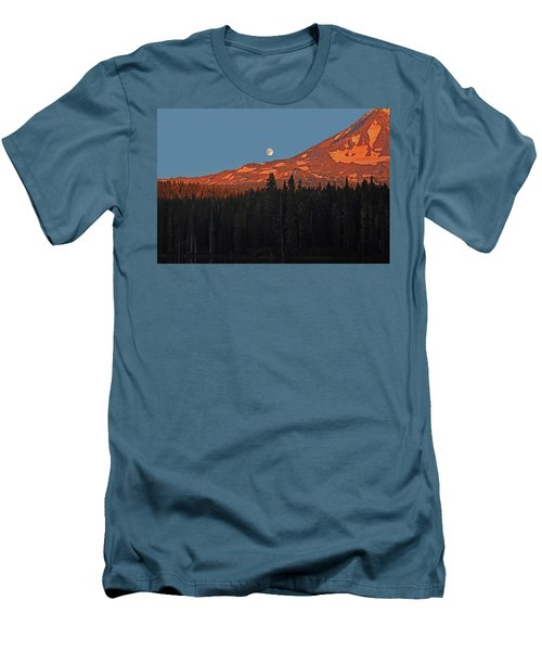 Sunset And Sunrise At Mt Adams Men's T-Shirt (Slim Fit) by Jack Moskovita