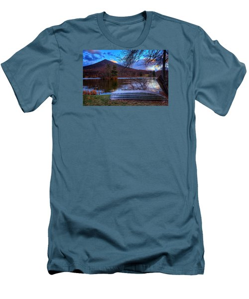 Sunset At Abbott Lake Men's T-Shirt (Slim Fit) by Steve Hurt