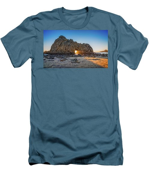 Sunset At Hole In The Rock Men's T-Shirt (Slim Fit) by James Hammond