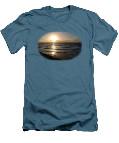 Sunset At Jaffa Beach T-shirt Men's T-Shirt (Slim Fit) by Isam Awad