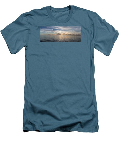 Sunset At Key Largo Men's T-Shirt (Slim Fit) by Christopher L Thomley