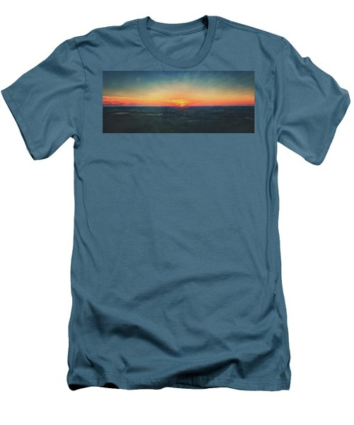 Men's T-Shirt (Slim Fit) featuring the photograph Sunset At Lapham Peak #3 - Wisconsin by Jennifer Rondinelli Reilly - Fine Art Photography