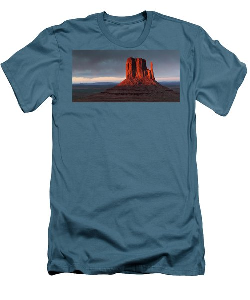 Sunset At Monument Valley Men's T-Shirt (Athletic Fit)