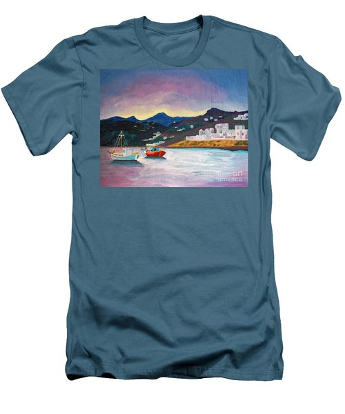 Sunset At Mykonos Men's T-Shirt (Athletic Fit)