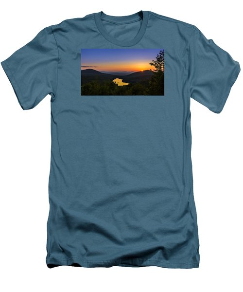 Sunset At Owls Head Men's T-Shirt (Slim Fit) by Tim Kirchoff