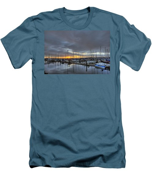 Sunset At Port Gardner Men's T-Shirt (Athletic Fit)