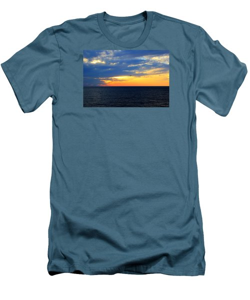 Men's T-Shirt (Slim Fit) featuring the photograph Sunset At Sail Away by Shelley Neff