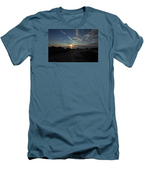 Sunset At Torrey Pines Men's T-Shirt (Slim Fit) by Jeremy McKay