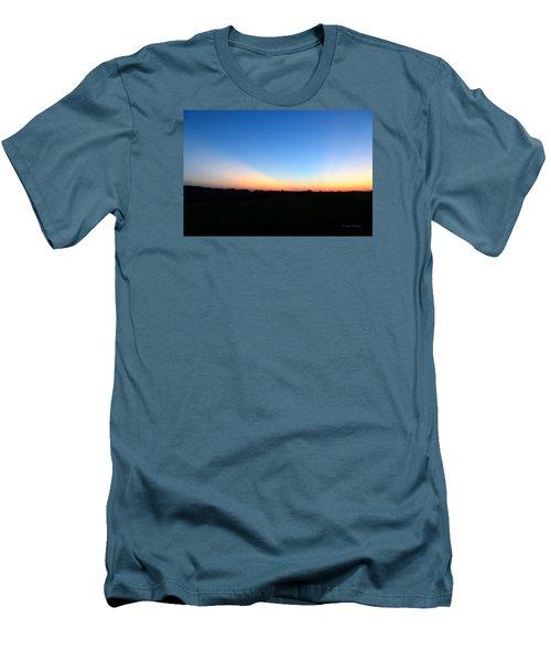 Sunset Blue Men's T-Shirt (Slim Fit) by Jana Russon