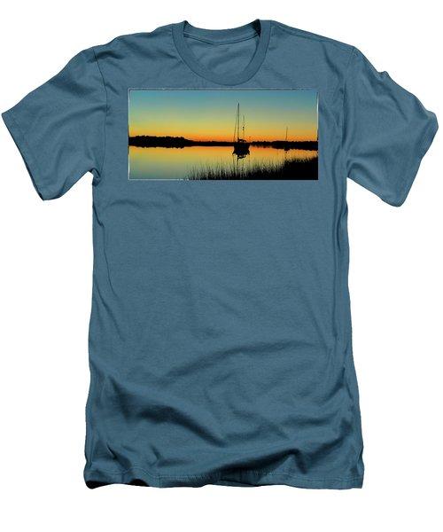Sunset Bowens Island Men's T-Shirt (Athletic Fit)