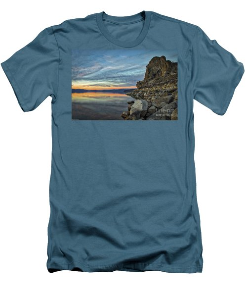Sunset Cave Rock 2015 Men's T-Shirt (Athletic Fit)