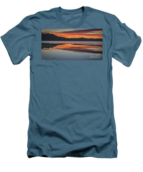 Men's T-Shirt (Slim Fit) featuring the photograph Sunset Colors by Mitch Shindelbower