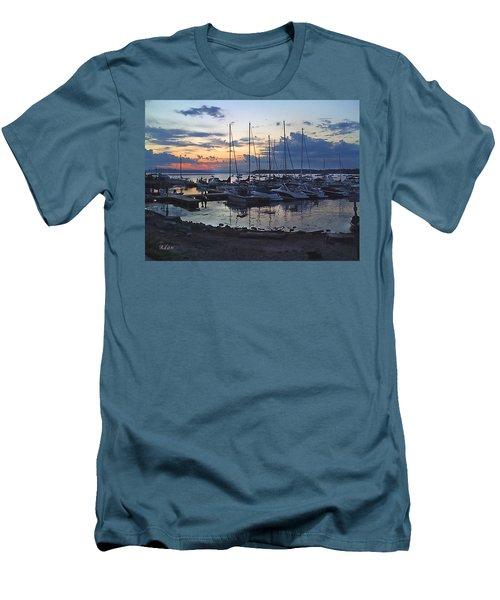 Sunset Dock Men's T-Shirt (Slim Fit) by Felipe Adan Lerma