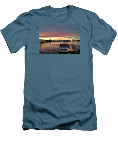 Sunset From The Boardwalk Men's T-Shirt (Slim Fit) by John Black