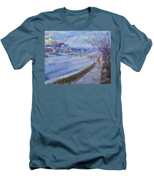 Sunset In Guelph St Georgetown On Men's T-Shirt (Athletic Fit)