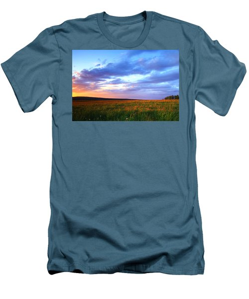 Sunset In Ithaca South Hill Men's T-Shirt (Athletic Fit)