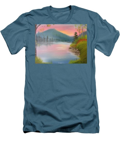 Sunset Lake Men's T-Shirt (Slim Fit) by Thomas Janos