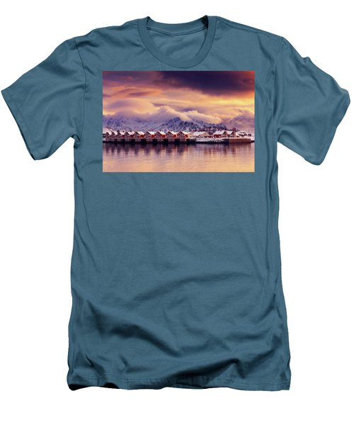 Sunset On Svolvaer Men's T-Shirt (Athletic Fit)