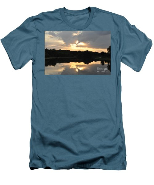 Men's T-Shirt (Slim Fit) featuring the photograph Sunset On The Lakefront by John Black