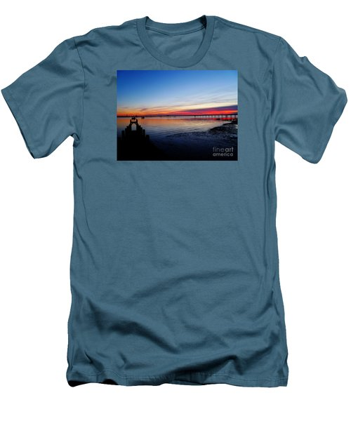 Sunset On The Shore Of Southend Men's T-Shirt (Athletic Fit)