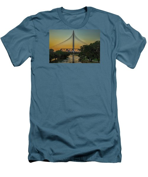 Sunset On The Trinity Men's T-Shirt (Slim Fit) by Diana Mary Sharpton