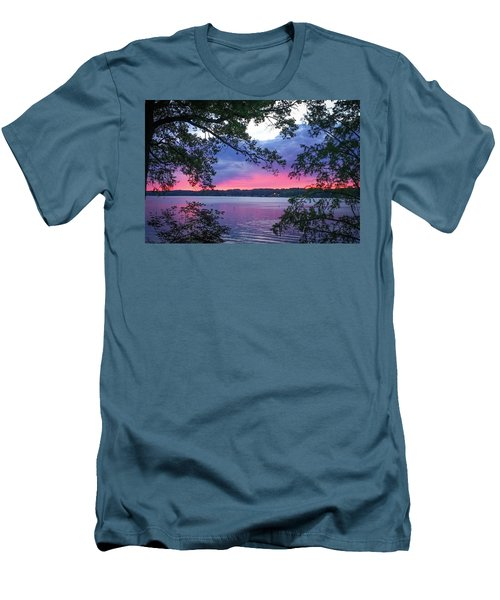 Sunset Over Lake Cherokee Men's T-Shirt (Athletic Fit)