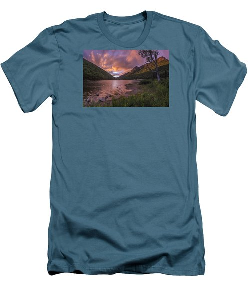 Sunset Over Profile Lake Men's T-Shirt (Athletic Fit)
