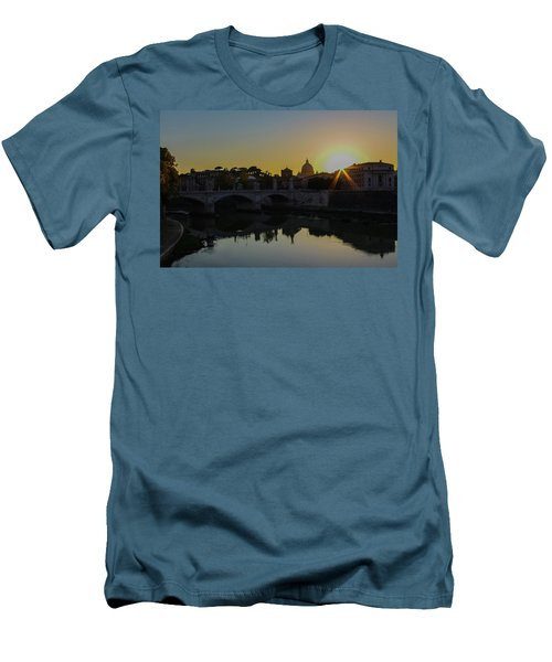 Sunset Over St Peters Men's T-Shirt (Slim Fit)