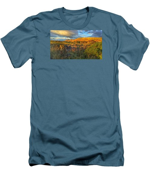 Men's T-Shirt (Slim Fit) featuring the photograph Sunset Over The Campsie Fells by RKAB Works