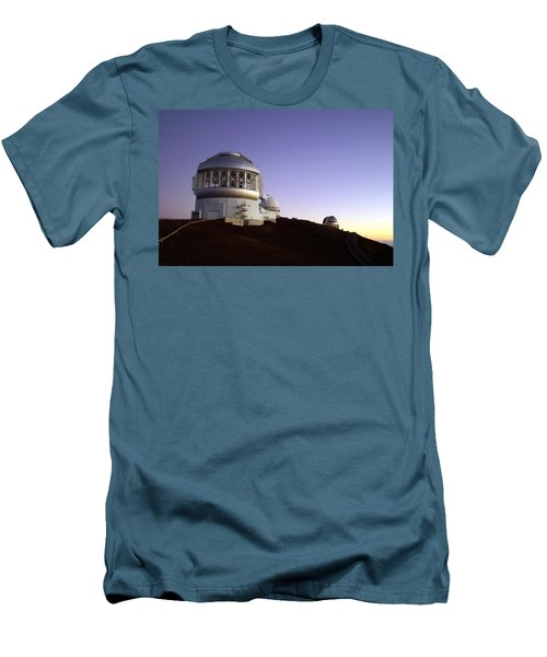 Sunset Over The Mauna Kea Observatories On Kona Men's T-Shirt (Athletic Fit)