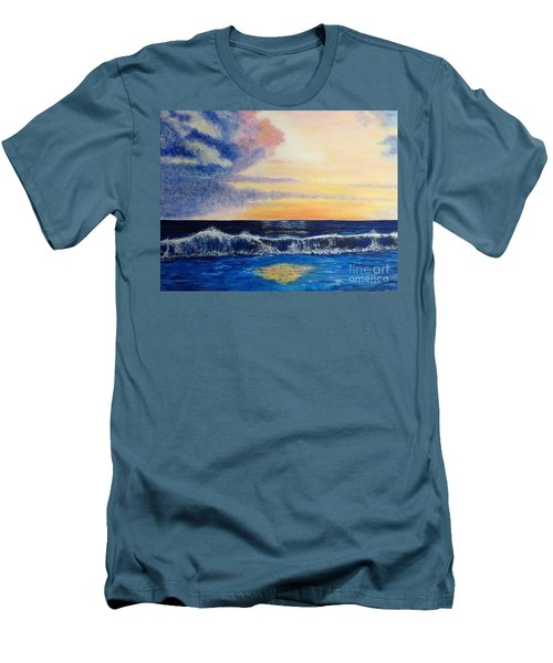 Sunset Over The Sea Men's T-Shirt (Athletic Fit)