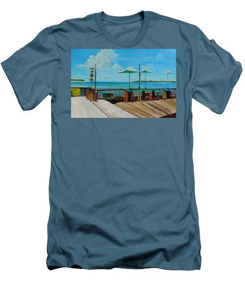 Sunset Pier Tiki Bar - Key West Florida Men's T-Shirt (Athletic Fit)