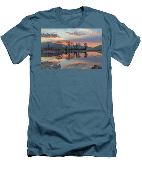 Sunset Reflection Men's T-Shirt (Slim Fit) by Marc Crumpler