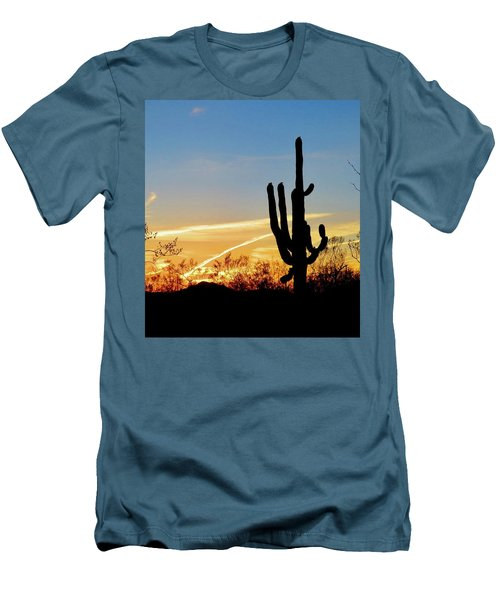 Sunset Saguaro In The Spring Men's T-Shirt (Athletic Fit)