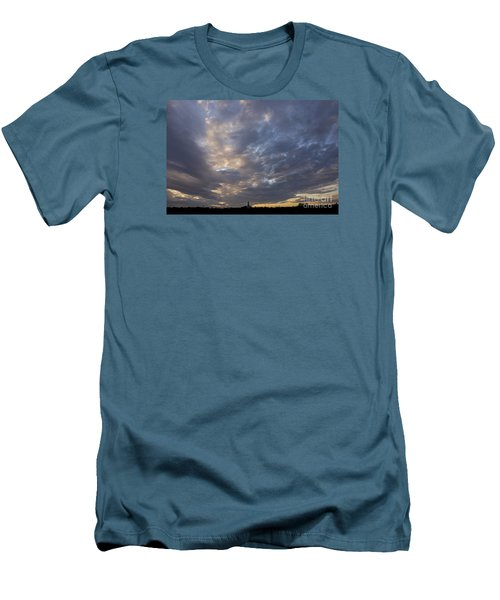 Men's T-Shirt (Slim Fit) featuring the photograph Sunset Sky by Inge Riis McDonald