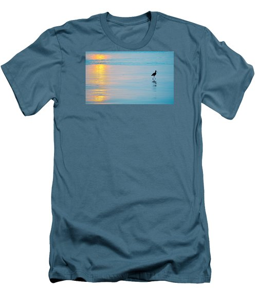 Sunset Stroll Men's T-Shirt (Slim Fit) by AJ  Schibig