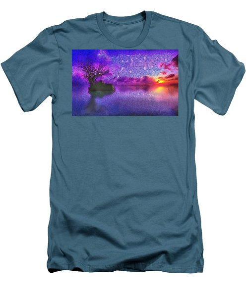 Sunset Tribute To Van Gogh Men's T-Shirt (Athletic Fit)