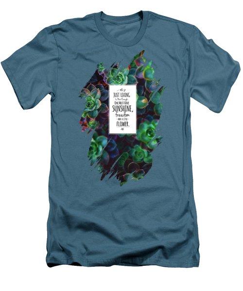 Sunshine, Freedom, Flower Men's T-Shirt (Slim Fit) by Atelier Seneca