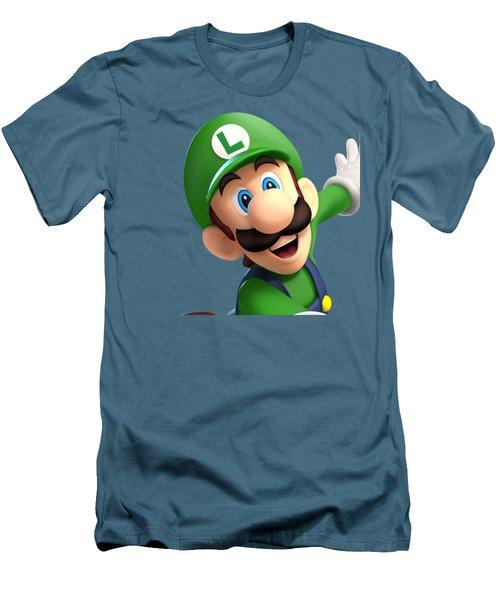 Super Luigi Men's T-Shirt (Slim Fit) by Sheila Mcdonald