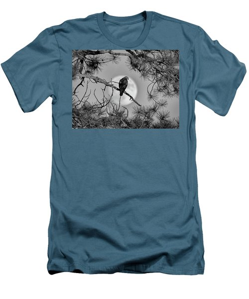Super Moon Hawk Men's T-Shirt (Slim Fit) by Kevin Munro