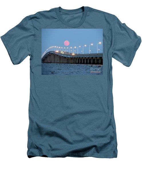 Super Moon  Men's T-Shirt (Slim Fit) by Robert Henne