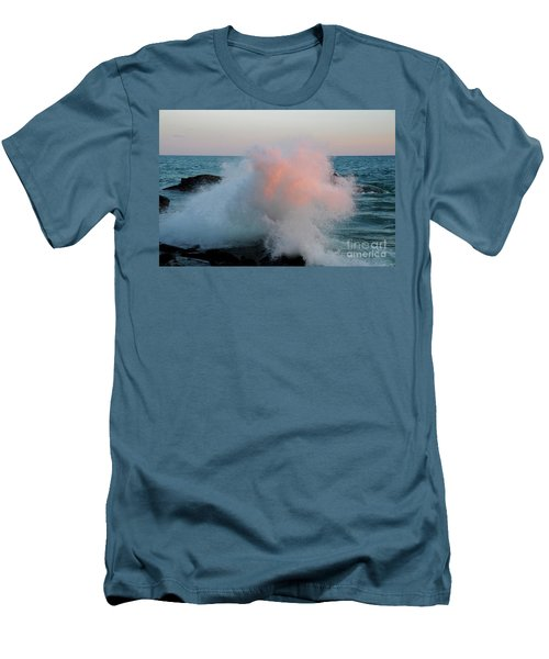 Superior Sundown Splash Men's T-Shirt (Slim Fit) by Sandra Updyke